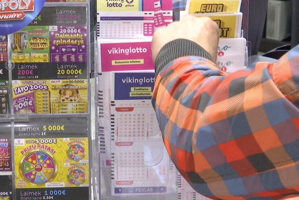 Loterijos bilietai (nuotr. stop kadras)