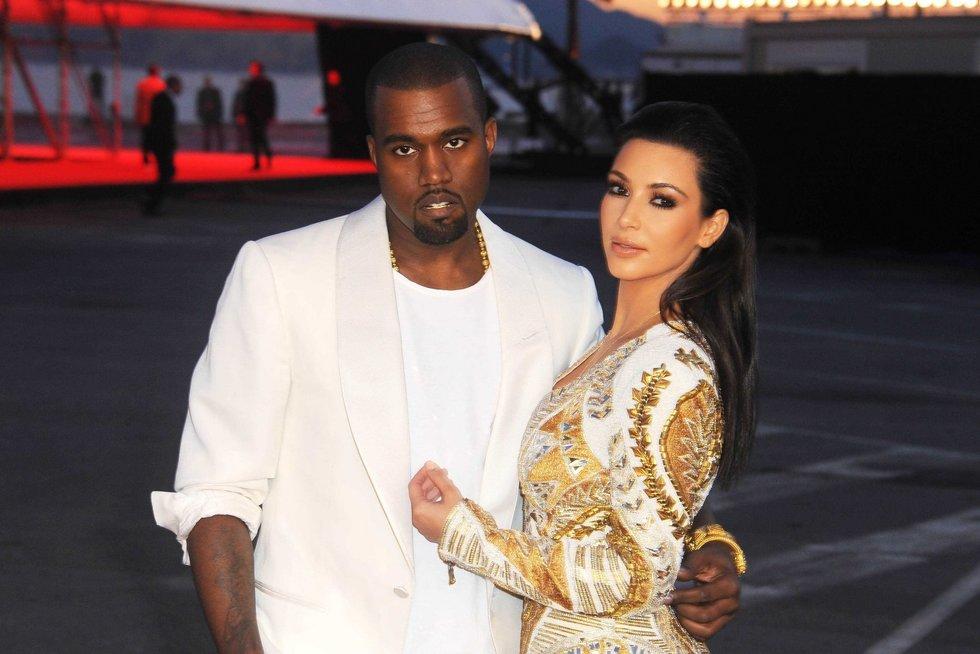 Kanye Westas ir Kim Kardashian (nuotr. SCANPIX)