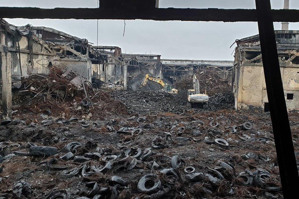 Vaizdas po gaisro Alytuje (nuotr. Raimundo Maslausko)