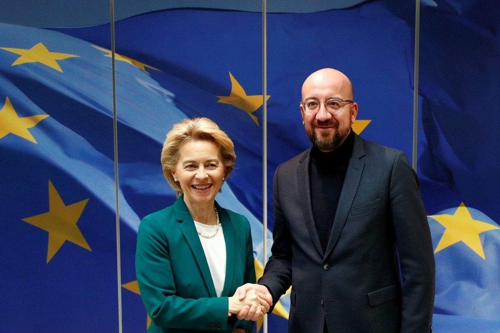 Ursula von der Leyen ir Charles'is Michelis (nuotr. SCANPIX)