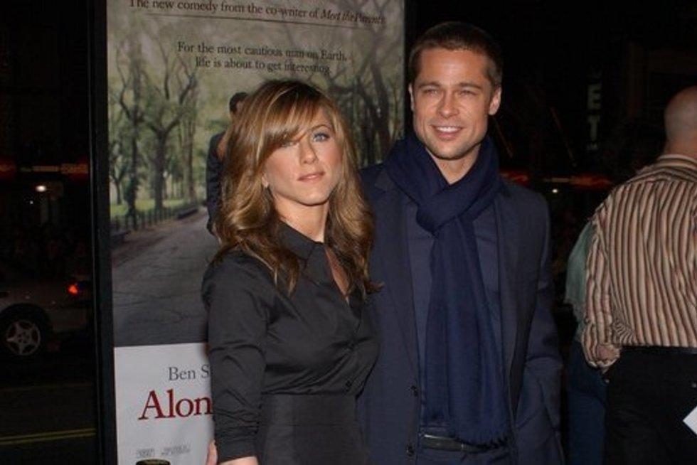 Jennifer Aniston ir Brad Pitt (nuotr. SCANPIX)
