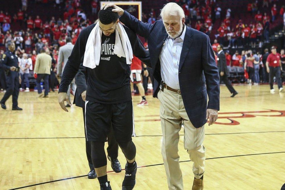 """Hiustono """"Rockets"""" – San Antonijo """"Spurs"""" 75:114 (nuotr. SCANPIX)"""