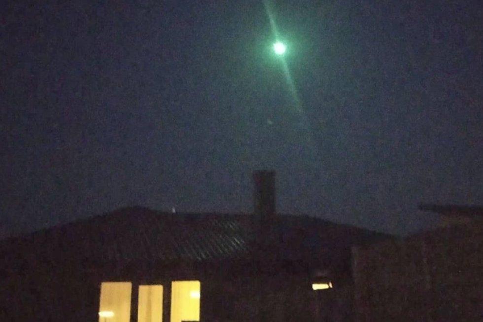Meteoras Kaune (nuotr. stop kadras)