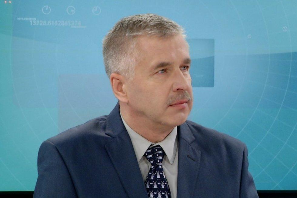 Klimatologas Arūnas Bukantis (nuotr. stop kadras)
