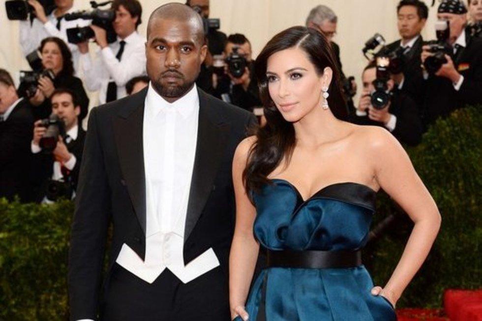 K. Kardashian ir K. Westas (nuotr. SCANPIX)