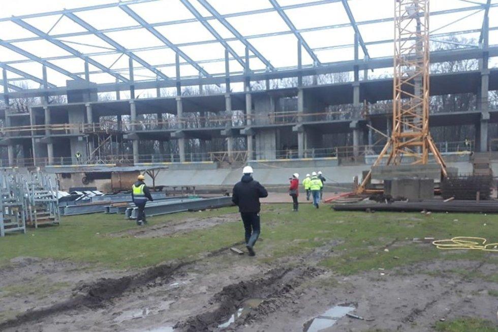 Stadiono statybos (Gegužės 1-osios profesinės sąjungos nuotr.)