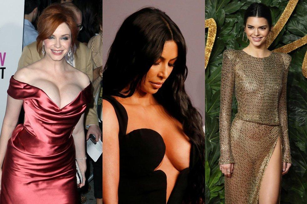 Christina Hendricks, Kim Kardashian, Kendall Jenner (nuotr. SCANPIX) tv3.lt fotomontažas