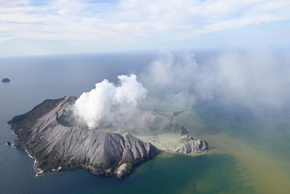 Naujojoje Zelandijoje išsiveržė turistų pamėgtas ugnikalnis (nuotr. Scanpix)
