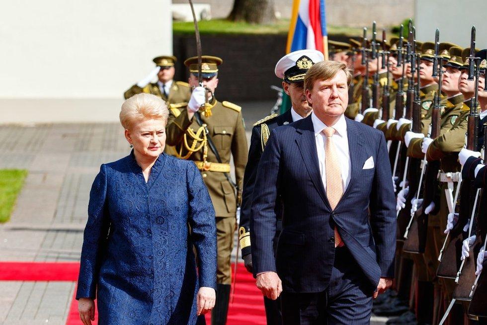 Į Lietuvą atvyko Nyderlandų Karalius: susitiko su prezidente (nuotr. Tv3.lt/Ruslano Kondratjevo)