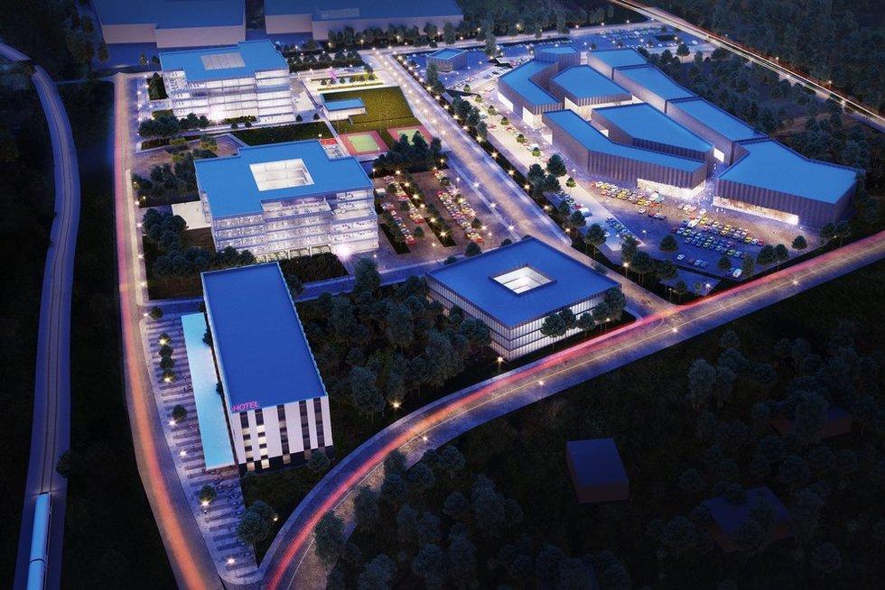 Prie Vilniaus oro uosto iškils naujas viešbutis su verslo centru  (nuotr. bendrovės)