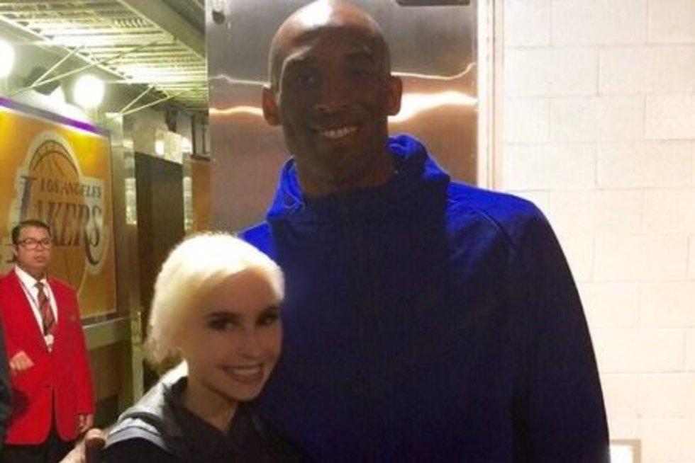 Simona Milinytė ir Kobe Bryantas (nuotr. asm. archyvo)