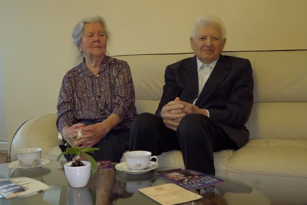 Klaipėdiečių pora jau 70-metų kartu (nuotr. stop kadras)