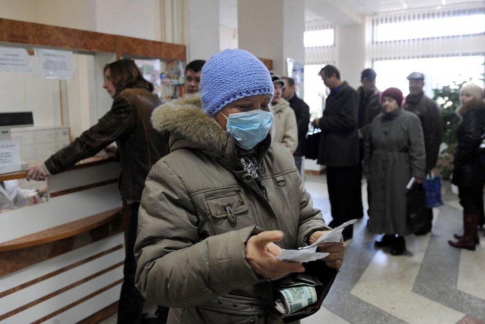 Minskas, 2009-ieji, gripo epidemija (nuotr. SCANPIX)