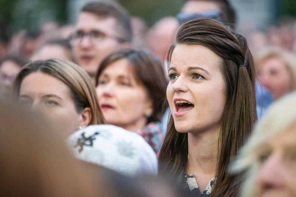 Liepos 6-osios proga lietuvius sveikino ir politikai (nuotr. fotodiena/Justino Auškelio)