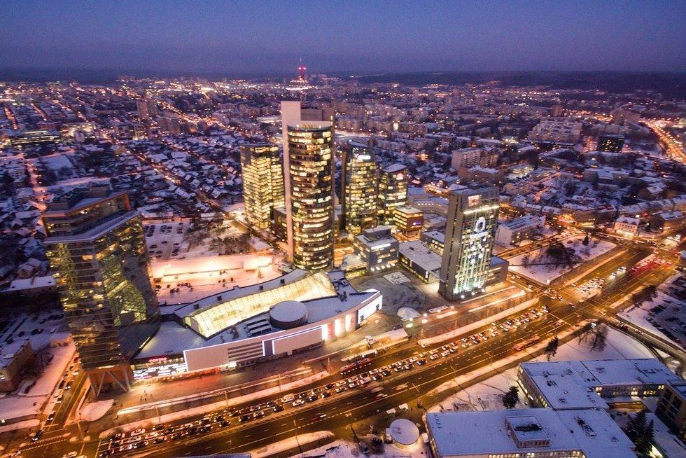 Vakarėjantis Vilnius nuotr. Broniaus Jablonsko