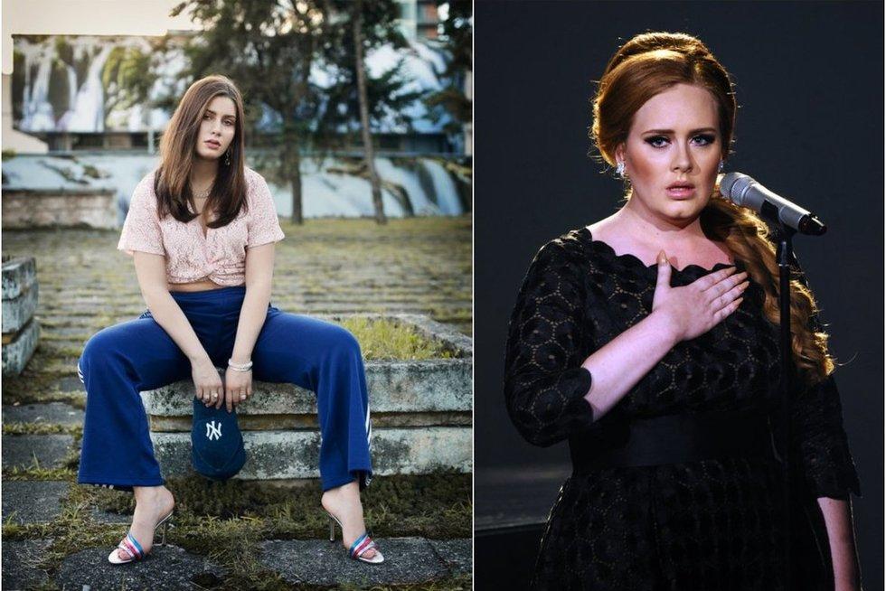 Lietuvė perdainavo Adele dainą (tv3.lt fotomontažas)