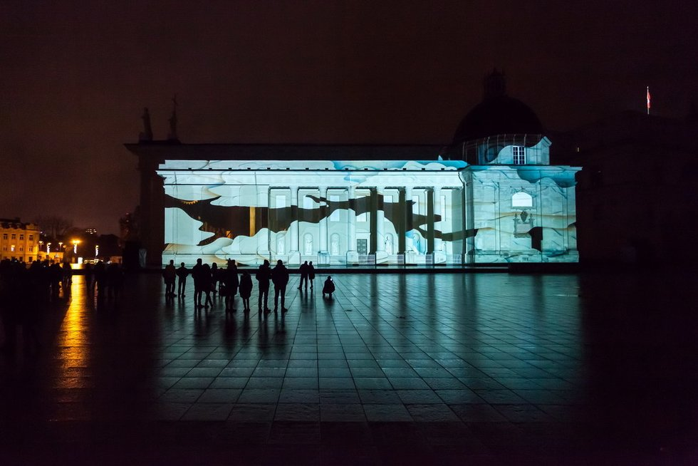 Tobulam Kalėdų vakarui Vilniuje – ypatinga 3D pasaka  (nuotr. Sauliaus Žiūros)