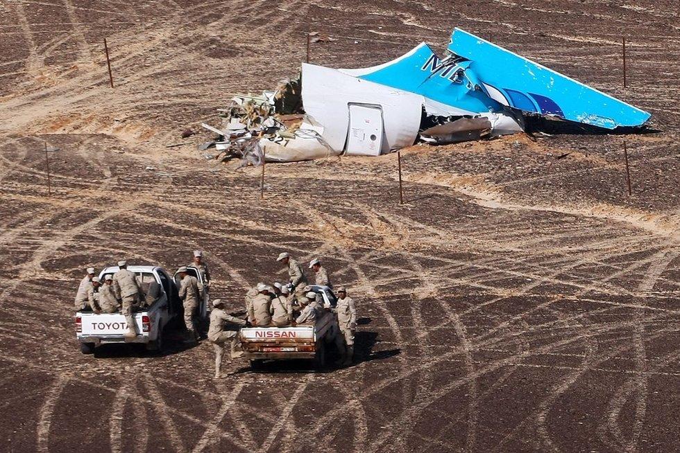"""""""Airbus 321"""" katastrofos vieta Egipte (nuotr. SCANPIX)"""