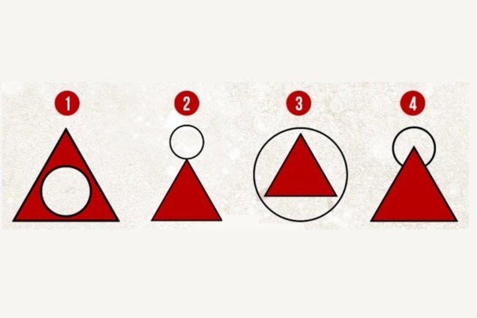 Kaip nupieštumėte trikampų su apskritimu?