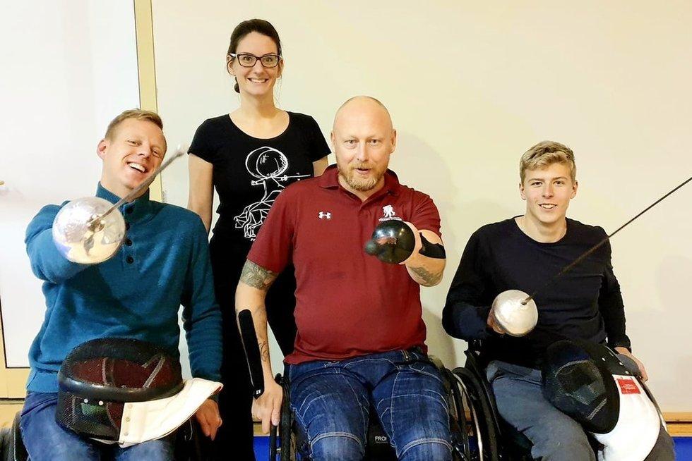 Neįgaliųjų fechtavimas pamažu skinasi kelią ir Lietuvoje. Fechtavimo akademijos archyvo nuotr.
