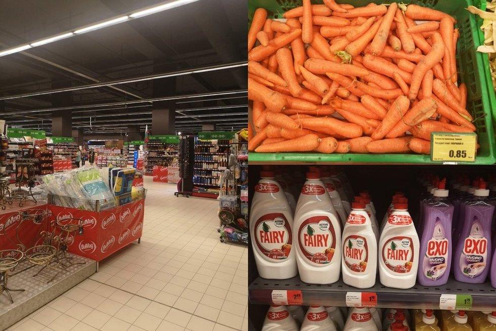 Maisto produktų kainos Varnoje (nuotr. tv3.lt)