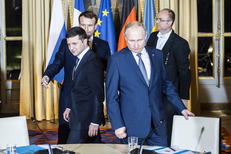 V. Zelenskis ir V. Putinas (nuotr. SCANPIX)
