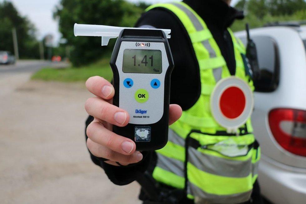 Savaitgalį Kauno apskrityje - masinė neblaivių vairuotojų kontrolė (nuotr. Policijos)