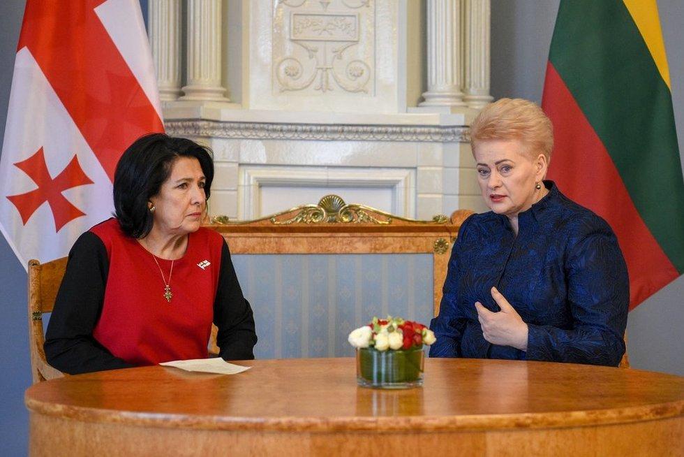 Gruzijos prezidentė Salomė Zurabišvili Vilniuje (Fotodiena/Justinas Auškelis)