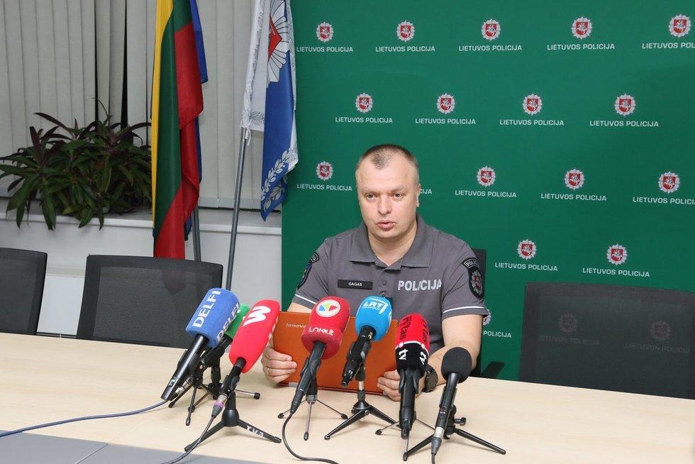 Policijos atstovų surengta spaudos konferencija dėl dingusios mergaitės (nuotr. Broniaus Jablonsko)