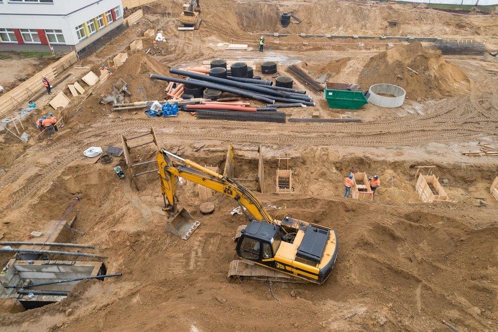Prasidėjo 3 krepšinio salių komplekso statybos Vilniuje (nuotr. Sauliaus Žiūros)