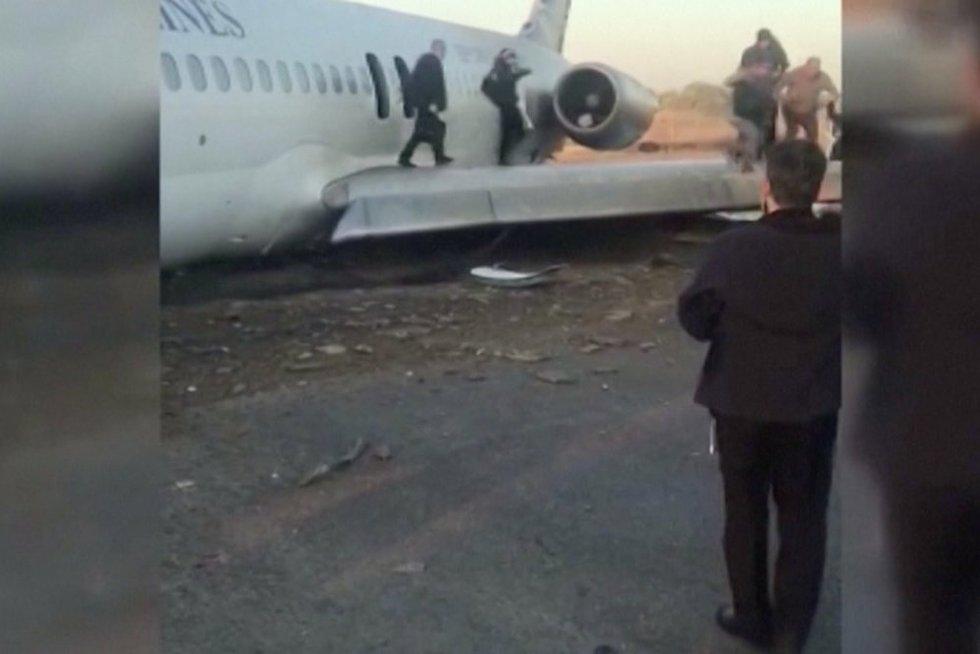 Lėktuvas Irane (nuotr. stop kadras)