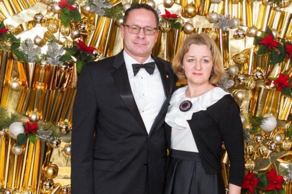 Žygimantas Pavilionis su žmona Lina (Fotobankas)