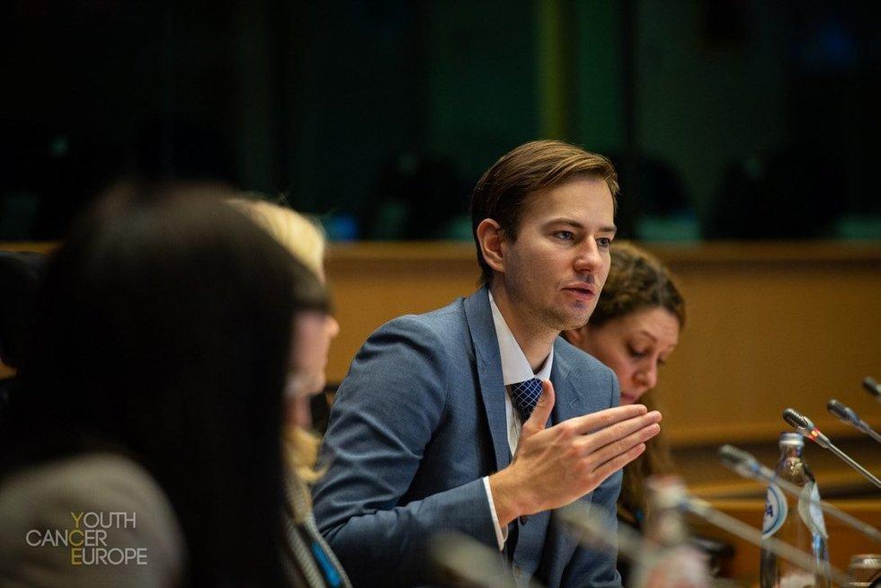 """POLA prezidentas Šarūnas Narbutas. Organizacijos """"Youth Cancer Europe"""" archyvo nuotr."""