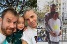 Krepšininkas Martynas Gecevičius su žmona Lina ir dukra Ema  (nuotr. Instagram)