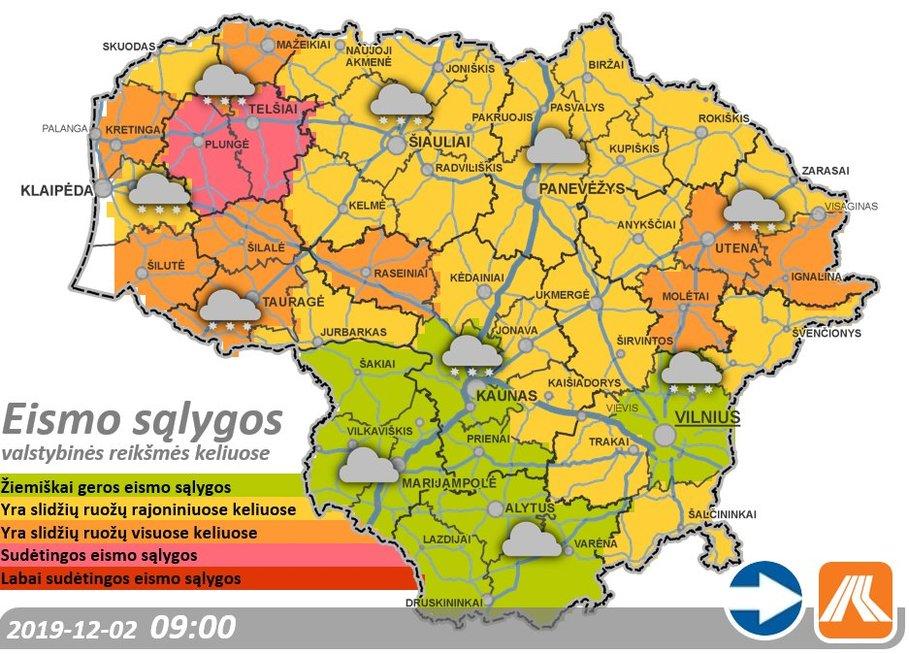 Eismo sąlygos Lietuvoje