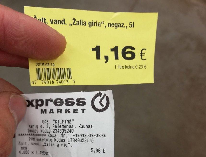 Kainų skirtumas Nuotr. Kas vyksta Kaune/ skaitytojo inf.