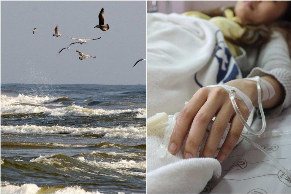 Gydytoja prakalbo apie bakteriją Baltijos jūroje (tv3.lt fotomontažas)