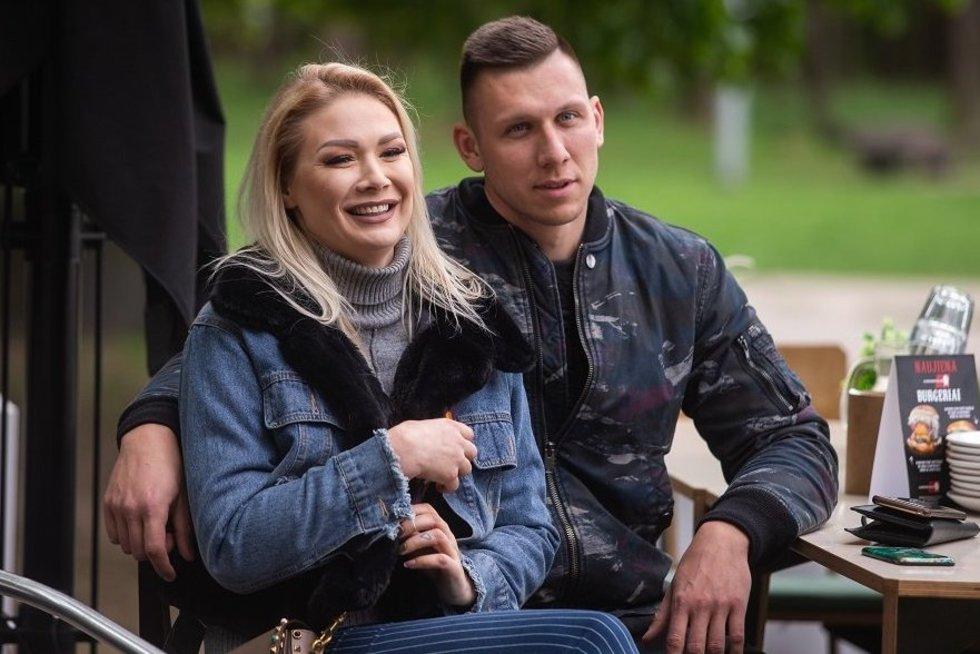 Natalija Bunkė su mylimuoju Edgaru (nuotr. Organizatorių)