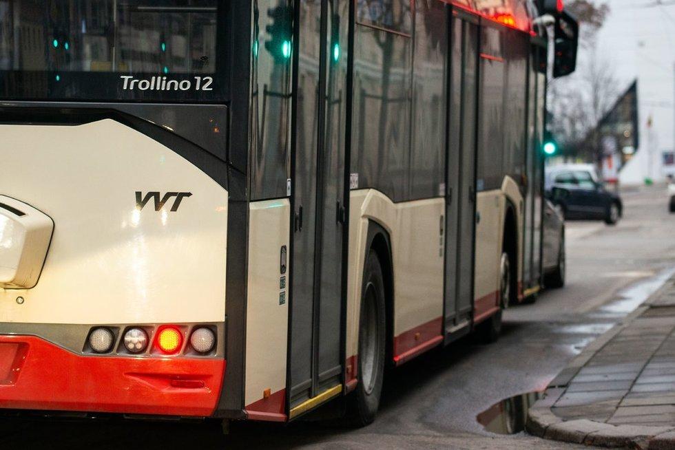 Viešasis transportas (nuotr. Fotodiena/Justino Auškelio)