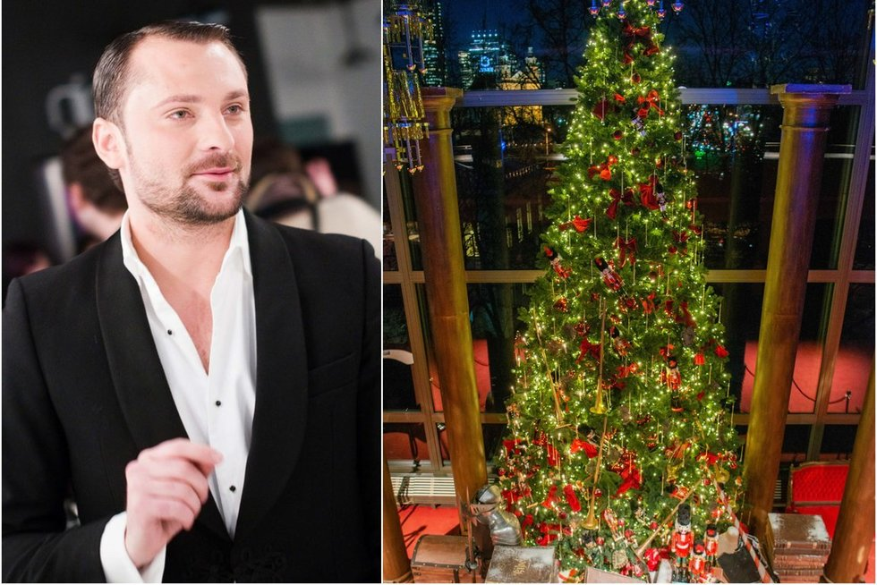 Vilniuje sužibo M. Petruškevičiaus kurta kalėdinė eglė (nuotr. Fotodiena/Justino Auškelio)