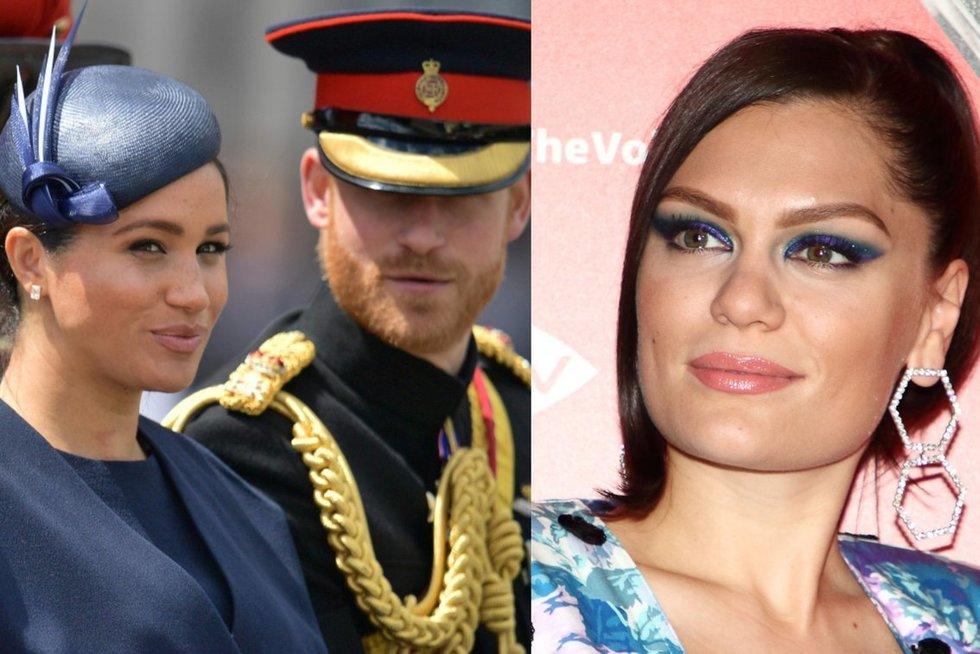 Meghan Markle, princas Harry ir Jessie J (nuotr. SCANPIX) tv3.lt fotomontažas