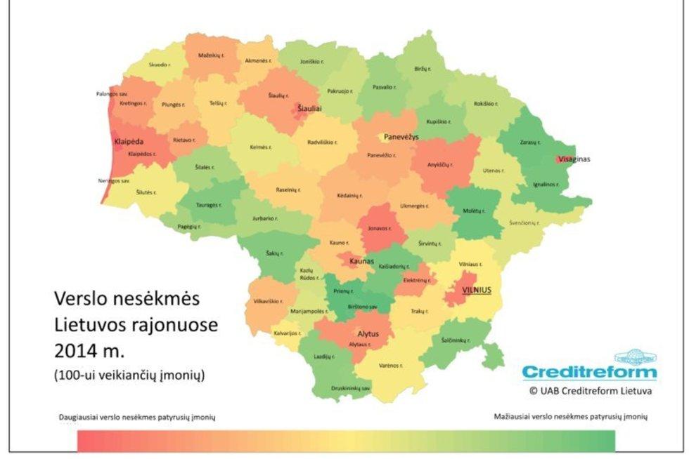 Verslo nesėkmės Lietuvos rajonuose (nuotr. Organizatorių)