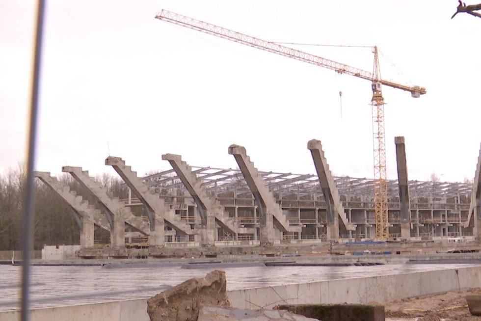 Stadiono statybos Kaune (nuotr. stop kadras)