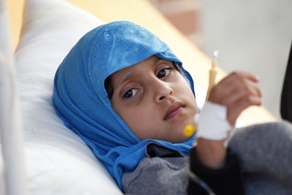 Jemene choleros protrūkio aukų padaugėjo iki 184 (nuotr. SCANPIX)