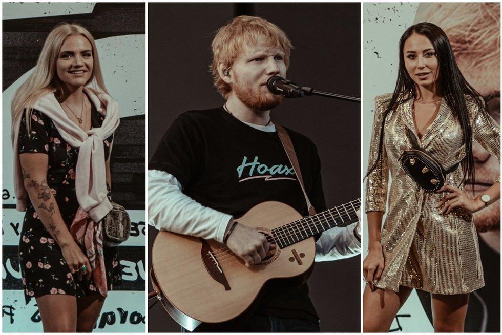 Edo Sheerano koncerto vakarėlio akimirkos (Edijs Andersons nuotr.)