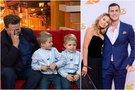 Merūnas Vitulskis su vaikais ir Justinas Jankevičius su mylimąja Greta (tv3.lt fotomontažas)