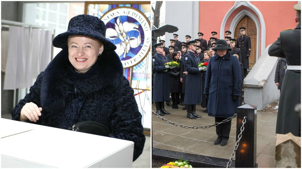 D. Grybauskaitės viršutinių drabužių deriniai (nuotr. BFL)