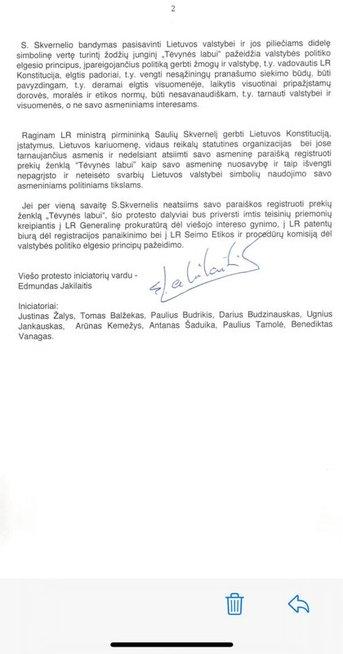 Protesto laiškas