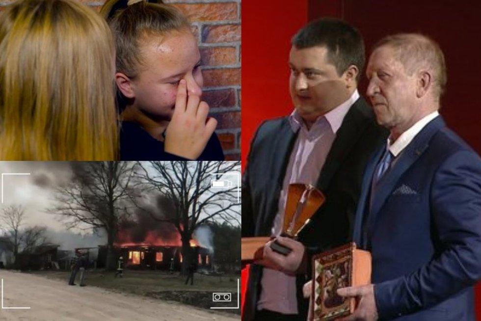Vyrai, išgelbėję vaikus iš gaisro
