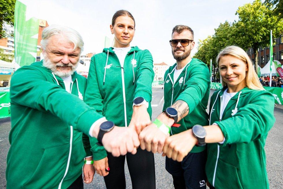 N.Kesminas fechtavosi su olimpine čempione (nuotr. Vytauto Dranginio/LTOK)
